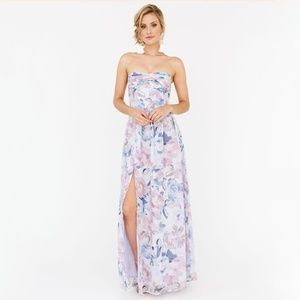 Plum Pretty Sugar Strapless Charlie Floral Dress